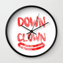 Clown Come On Down With The Clown Wall Clock