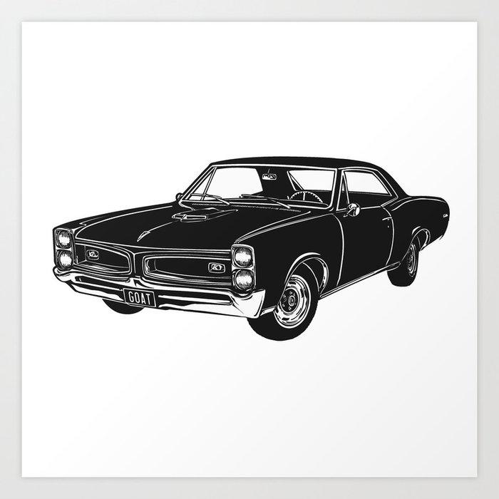 Gto Muscle Car Art Print By Octane Society6