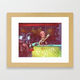 Adult Shelter Girl Framed Art Print