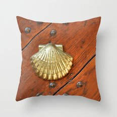 Gold shell Throw Pillow