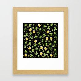St Patricks day pattern Framed Art Print