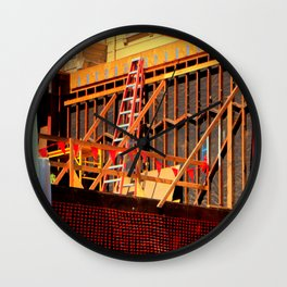 Under Over Construction Wall Clock