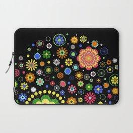 Floral Black Pattern Laptop Sleeve