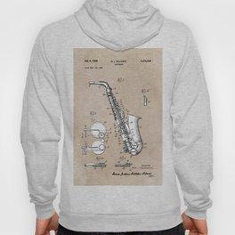 patent art Gillespie Saxophone 1945 Hoody