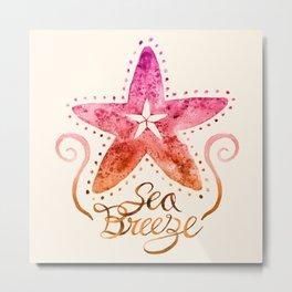 Sea Breeze - Sunset Metal Print