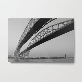 Blue Water Bridge I Metal Print