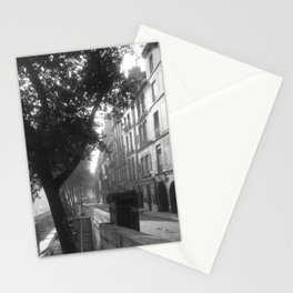 Paris - Quai d'Anjou, 6h du matin lost generation street scene 1920's black and white photograph Stationery Cards
