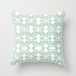 Lime Lines  Throw Pillow