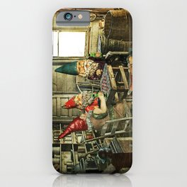 Garden Gnomes Playing Checkers iPhone Case