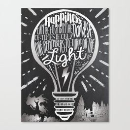 Happiness Can Be Found in the Darkest of Times Canvas Print