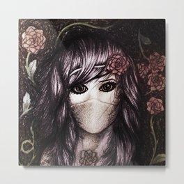 Flower Anime Art Metal Print