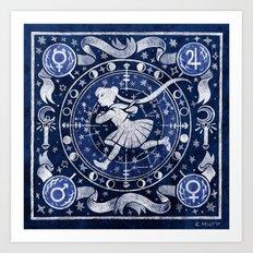 Moon Star Chart Art Print