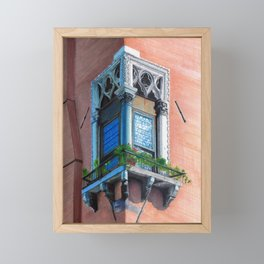 A window in Venezia: La finestra 1 Framed Mini Art Print