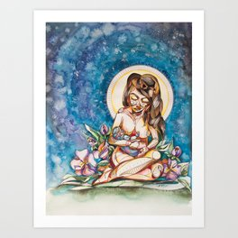 Startdust Motherhood Art Print