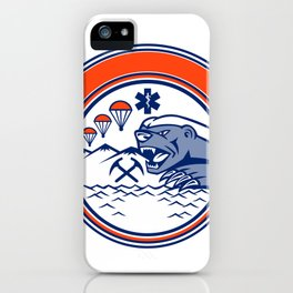 Honey Badger Land Sea Air Rescue Mascot iPhone Case