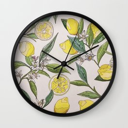 kitchen lemon 1. Wall Clock