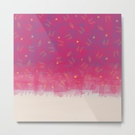 Abstract Beach Drapes Design Metal Print