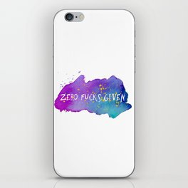 Zero fucks given iPhone Skin