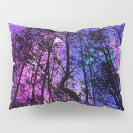 Black Trees Purple Fuchsia Blue space Pillow Sham