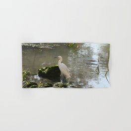 White Egret Hand & Bath Towel