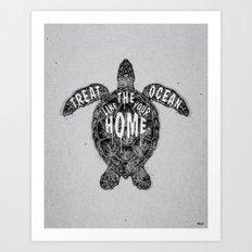 ocean omega (monochrome series) Art Print