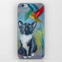 Pinwheel Kitty iPhone Skin
