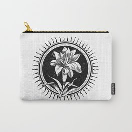 White flower Flor blanca Carry-All Pouch