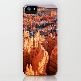 Sunset Point at Bryce Canyon Panorama iPhone Case
