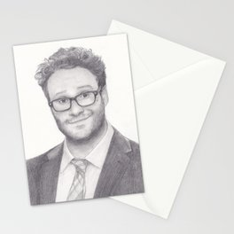 Seth Rogen Pencil drawing Stationery Cards