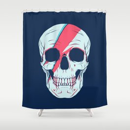 Bowie Skull Shower Curtain