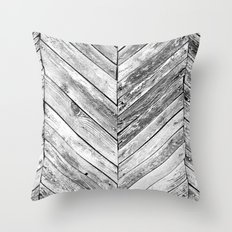 Antique Wood Throw Pillow