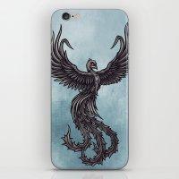 phoenix iPhone & iPod Skins featuring Phoenix by Texnotropio