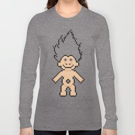 8bit troll Long Sleeve T-shirt