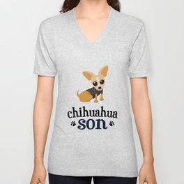 Chihuahua Son Pet Owner Dog Lover Unisex V-Neck