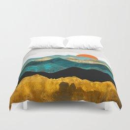 Turquoise Vista Duvet Cover