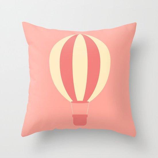 #84 Hot Air Balloon Throw Pillow