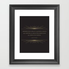 Imperfection is Beauty Framed Art Print