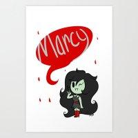 marceline Art Prints featuring Marceline by dartty