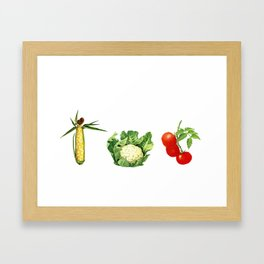 Hug Your Farmer (Corn, Cauliflower, Tomato) Framed Art Print
