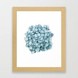 Blue Hydrangea Watercolor Framed Art Print