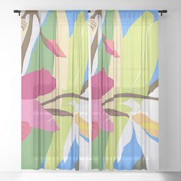 Mother's Day Sheer Curtain