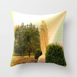 St. Francis in the Light Throw Pillow
