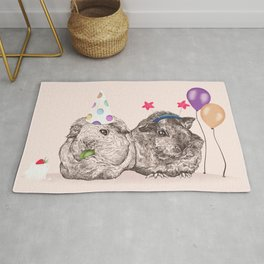 Guinea Pigs Just Want To Party Rug