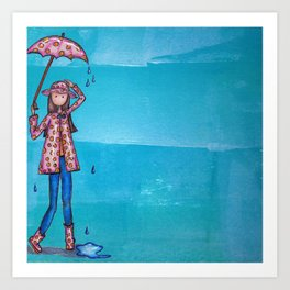 It's all about the Rain Gear Art Print