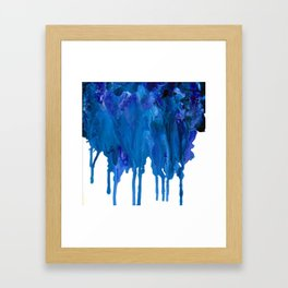 SPILLED OCEAN Framed Art Print