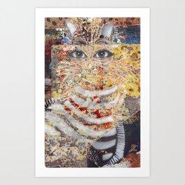 Enchanted Feline Art Print