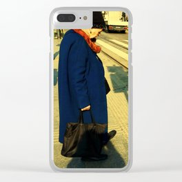The Lady and the Stoplight Clear iPhone Case