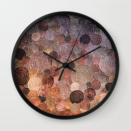 Abstract brown glamour glitter circles and dots for Girls and ladies Wall Clock