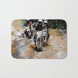 Oncoming! - Motocross Racers Bath Mat