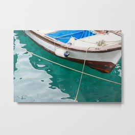 little fishing boat Metal Print